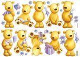 """Wandsticker 33tlg """"Teddybär"""""""