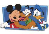 """Wanddekoration groß 51cm Schaumstoff  """"Mickey und Friends"""""""