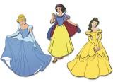 "Wandfiguren 3-tlg. Schaumstoff  ""Disney Prinzessinnen"""