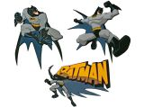 "Wandfiguren Set  3-tlg. Schaumstoff  ""Batman"""