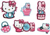 "Mini Wandfiguren  24-tlg. Schaumstoff  ""Hello Kitty"""