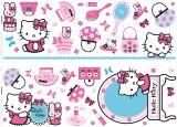 """Glitter-Wandsticker 50 tlg. """"Hello Kitty""""  - mit Glitzer-Verzierungen"""