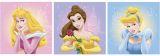 """Wandsticker 3-tlg, quadratisch  31x31 cm """"Disney Prinzessinnen"""""""