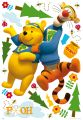 "MAXI STICKER 100x70 cm  ""Winnie Puuh"" My friends Tigger und Puuh, 21-tlg."