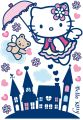 "MAXI STICKER ""Hello Kitty "" Angel 100 x70 cm 17-tlg."