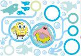 "MAXI  STICKER 100x70 cm ""SpongeBob Schwammkopf  "" 35-tlg,  mit Fotosticker"