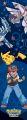 "2,60 m hohe  Raum-Dekoration ""Pokemon""  selbstklebend"