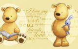 """Tapetenbordüre 10 cm, 5 m selbstklebend  """"Teddybär"""""""
