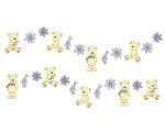 "Mini Wandfiguren-Set 24tlg. Schaumstoff ""Teddybär"""