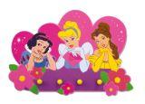 """Dekorative Hakenleiste aus Schaumstoff mit 4 Haken """"Disney Prinzessinnen"""""""
