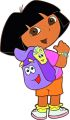 "Wandfigur groß  48 cm,  Schaumstoff,  ""Dora"""