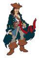"""Wandfigur groß 52 cm, Schaumstoff , """"Pirat Karibik"""""""
