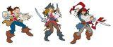 "Wandfiguren 3-tlg. Schaumstoff  ""Piraten Karibik"""