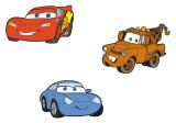 "Wandfiguren 3-tlg. Schaumstoff  ""Cars"""