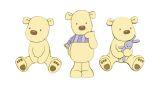 "Wandfiguren-Set 3tlg. Schaumstoff  ""Teddybär"""