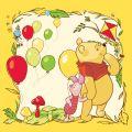 Leinwandbild Winnie Puuh Balloons auf Rahmen 28x28x3 cm