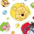 Leinwandbild Winnie Puuh Bubbles auf Rahmen 28x28x3 cm