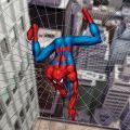 Leinwandbild Spiderman Netz auf Rahmen 28x28x3 cm