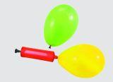 Ballonpumpe mit  5 bunten  Luftballons