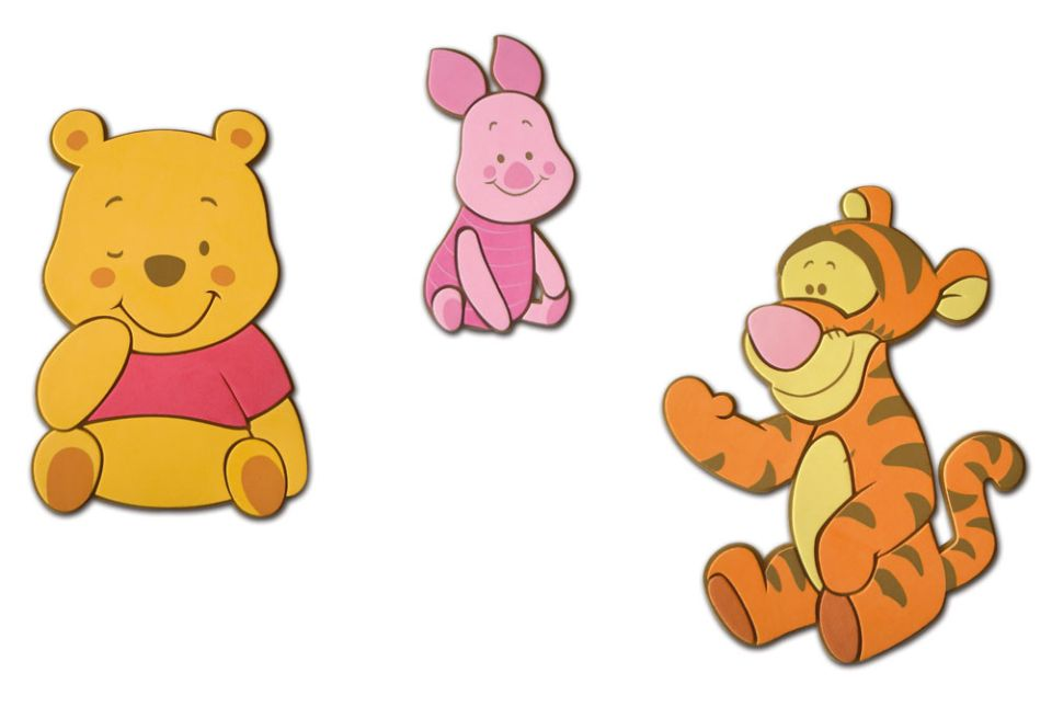 Wandbild Winnie Pooh Baby 3 Wandaufkleber Moosgummi