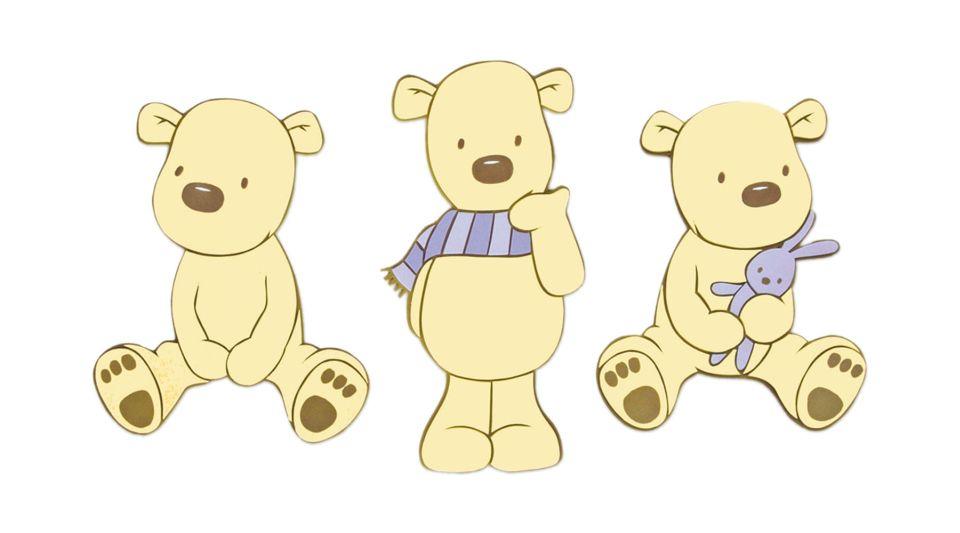 Wandbild Teddyb R 3 Wandaufkleber Moosgummi Decofun Kinderzimmer Babyzimmer 24cm Ebay
